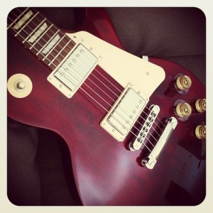 A brand new guitar.